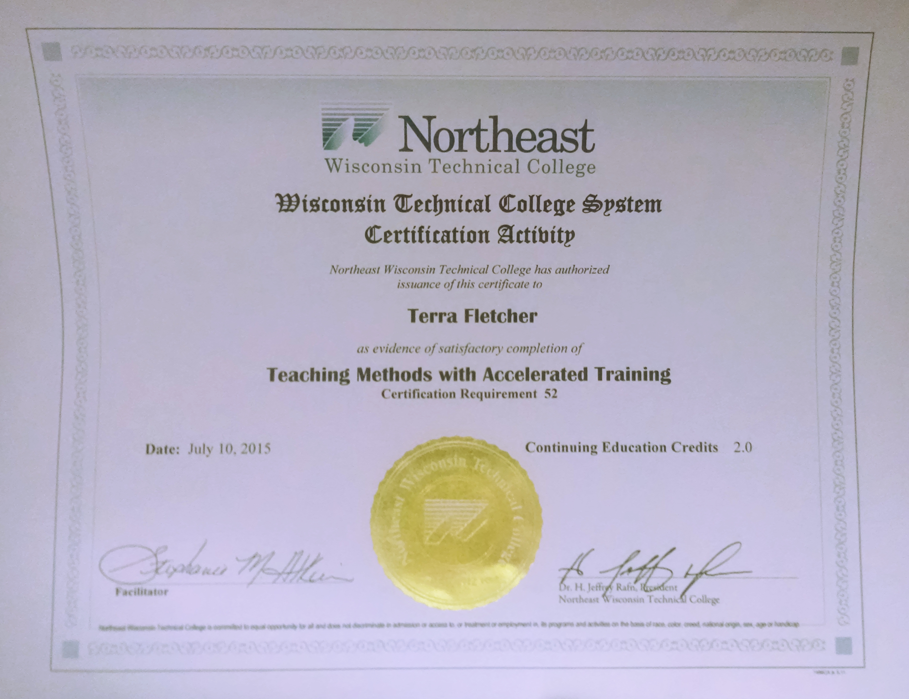 Terra Certified In Teaching Methods Fletcher Consulting